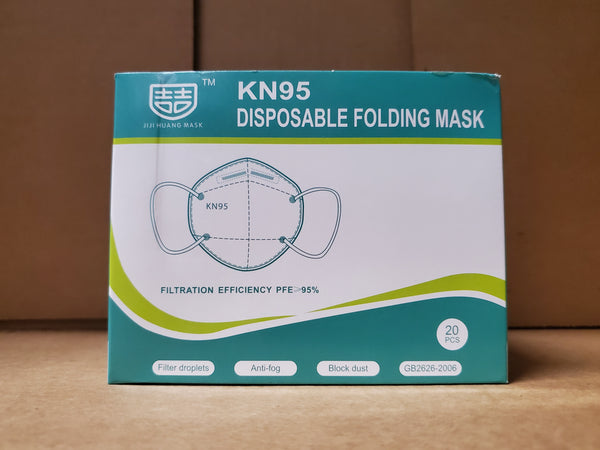 KN95 DISPOSABLE FOLDING MASK 20pcs/Box >95% FILTRATION- (Individually packed)