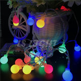 2M/4M/10M 80Led Cherry Balls Fairy String Decorative Lights Battery Operated Wedding Christmas Outdoor Patio Garland Decoration