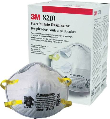 No stock 3M™ Particulate Respirator 8210, N95 20Mask per Box.