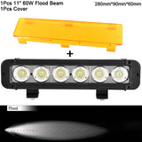 5'' 20W 8'' 40W 11'' 60W Led Work Light Bar Spot Flood Combo Beams Boat Moto Uaz ATV 4x4 Truck Offroad Barra De Led Fog Lamps