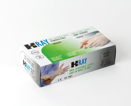 DISPOSABLE VINYL GLOVES CLEAR – IND/FOOD GRADE POWDER FREE 100/Box