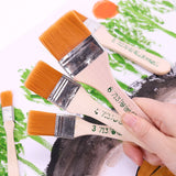 6 Styles Nylon Hair Painting Brush Oil Watercolor Water Powder Propylene  Differeent Size Paint Brushes School Art Supply