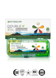 Nutrilite® Double X® Vitamin/Mineral/Phytonutrient Supplement – 31-day supply with 3-compartment case