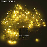 AIFENG Fairy Light 2M 3M 5M 10M Silver Copper Wire Light String Battery Operated Christmas Wedding Holiday Decor Led Fairy Light
