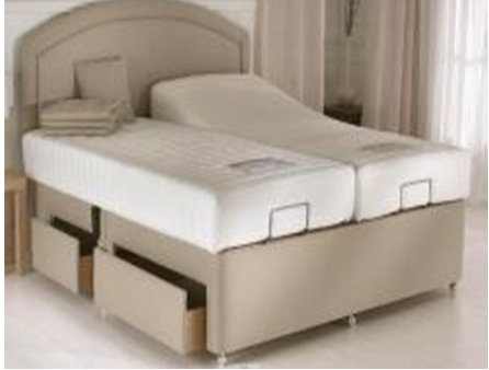 King size bed without the mattress B001-K2 Wireless Control and Without Massage