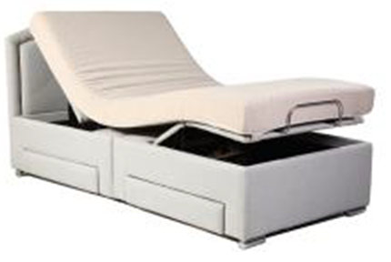 Queen size bed without the mattress B001-Q3 Wire Control and Without massage