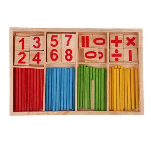 Wooden Educational  Early Learning Number Counting Math Stick Calculate Toys