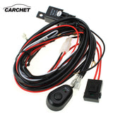 CARCHET HID Wiring Harness LED HID Work Driving Light Wiring Harness Kit Fog Spot Work Light 2.5m Length 12V 40A Switch Relay