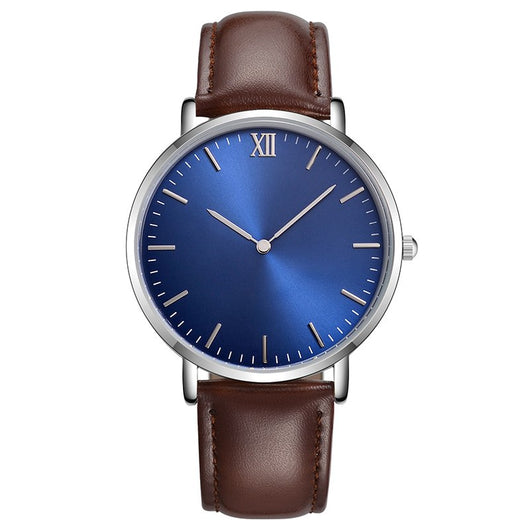 CL025 Manufacture Customized OEM Watch Personal Name Branding Face Design Watch Print Your Logo Leather Watch for Men