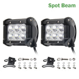 CO LIGHT 2Pcs Flood Beam 4Inch 12V Led Light Bar 6000K 2400Lm Led Chip Spot Auto Replacement Parts For Jeep Bmw Audi Daf Honda