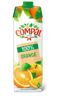 COMPAL 100% ORANGE 12 x 1Lt Case