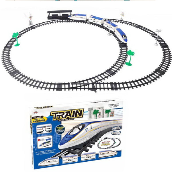 Children's Christmas Toy Electric Track Train Set High-speed Rail Scene Model Parent-child Interactive Toy Birthday Gift 714