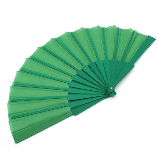 Chinese Plain Hand Held Fabric Folding Fan Summer Pocket Fan Wedding Party Favor