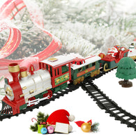 Christmas Electric Rail Car Train Toy Children's Train Building Toys Railway Train Set Racing Road Transportation Building Toys