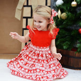 Christmas Kids Baby Girls Toodler Kids Clothing Dresses Xmas Lace Sleeveless Cute Tutu Mini Dress Party Girl Clothes
