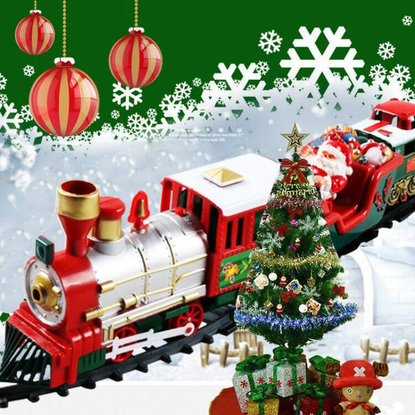 Christmas electric rail car small train toy children's electric educational car toy