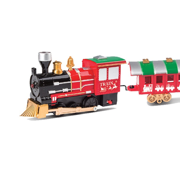 Classic Christmas electric track train Lighting music electric toy railcar combination parent-child interactive toy gift