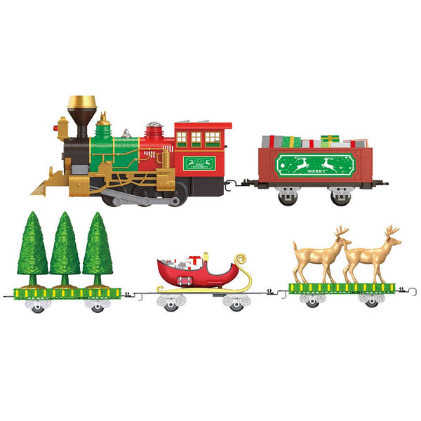 Classic Train Toy Set Christmas Electric Light Music Train Toy Set For Children Early Education For Above 3 Years Old Children