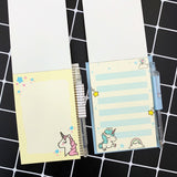 Cute Unicorn Set 1 Notebook+1 Ballpoint Pen Writing Diary Book Kids Gift Stationery Student Rewarding School Office Supply