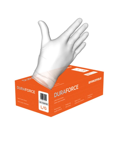 Duraforce Latex Disposable Examination Gloves (Case of 1000 Gloves) CURBSIDE PICK UP AVAILABLE