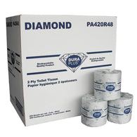 SOLD OUT $17.90 Dura Plus White 2 Ply Diamond Quality Bathroom Tissue 420 Sheets, 48/Pack Cash and Carry