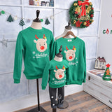 Family Matching Outfits 2018 Winter Christmas Sweater Cute Deer Children Clothing Kid T-shirt Add Wool Warm Family Clothes P003 1