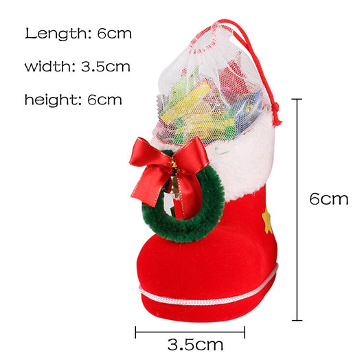Christmas Santa Claus Boot Shoes Stocking Kids Child Candy Gift Holder Xmas Bags