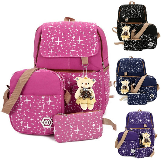 d20889641 Fashion Composite Bag Preppy Style Backpacks For Teenage Girls High Quality  Canvas School Bags Cute Bear