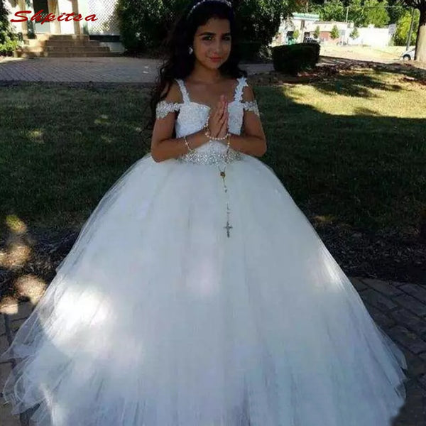 Flower Girl Dresses 2018 for Wedding Party First Communion Dresses for Girls Pageant Dress Flowergirl Dress 1
