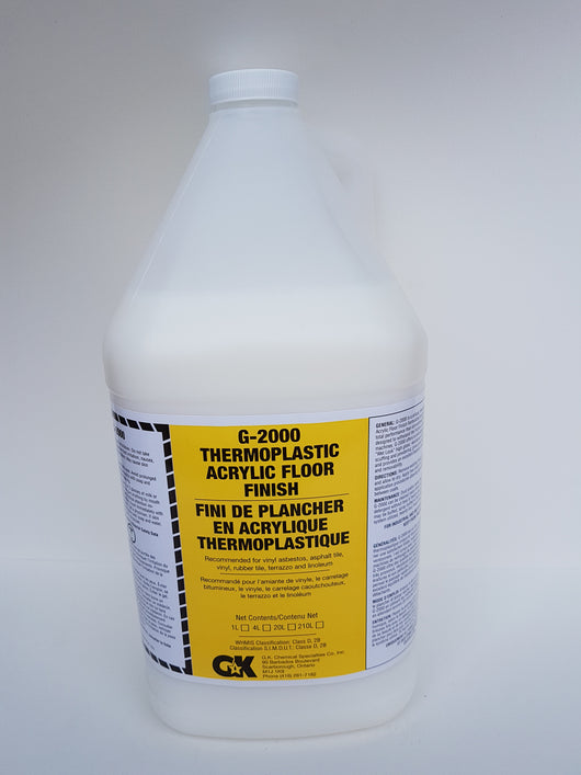 G-2000 Thermoplastic Floor Finish 25% 4x4L