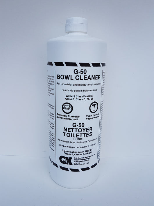 G-50 Bowl Cleaner 12x1L CURBSIDE PICK UP AVAILABLE