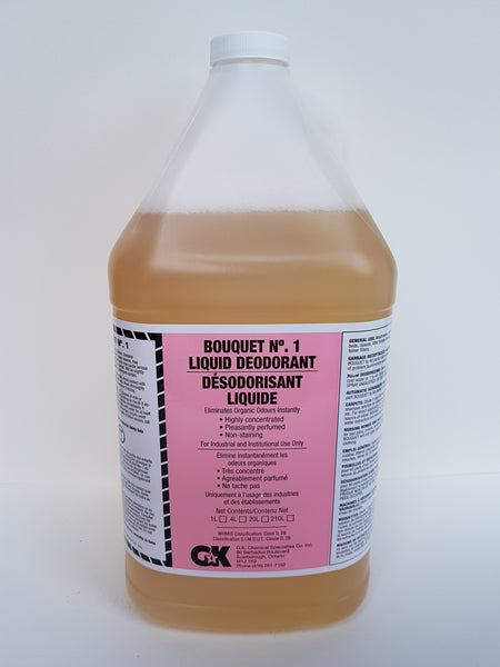 Bouquet #1 Liquid Deodorant 4x4L CURBSIDE PICK UP AVAILABLE