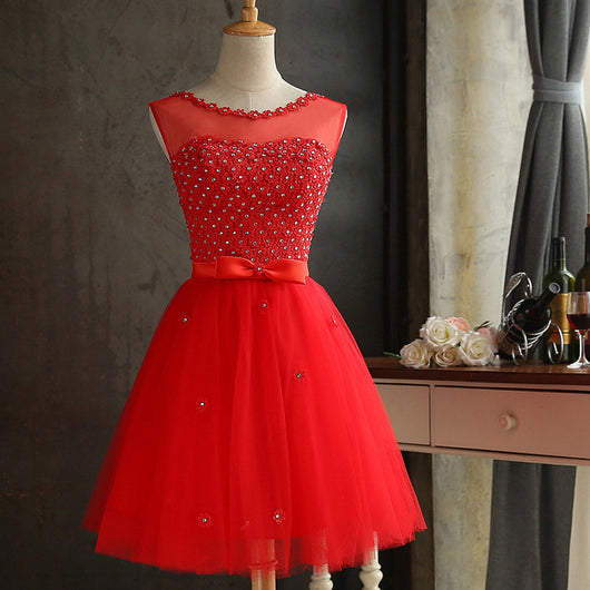 GACVGA 2018 Elegant Lace Diamond Summer Dress Sleeveless Lovely Short Dress For