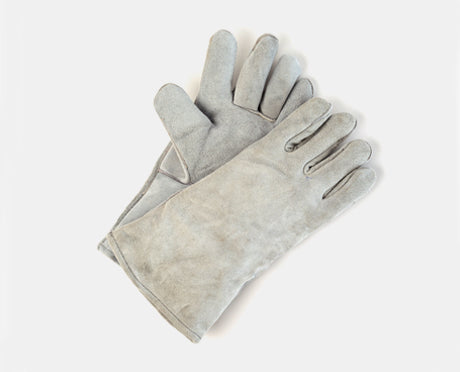 ECONOMY GREY SPLIT LEATHER WELDERS GLOVES PAIR