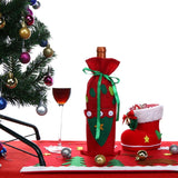 Golves/Christmas Tree Red Wine Bottle Cover Bags Christmas Gift Protective Bag Xmas Navidad Dinner Party Table Decoration