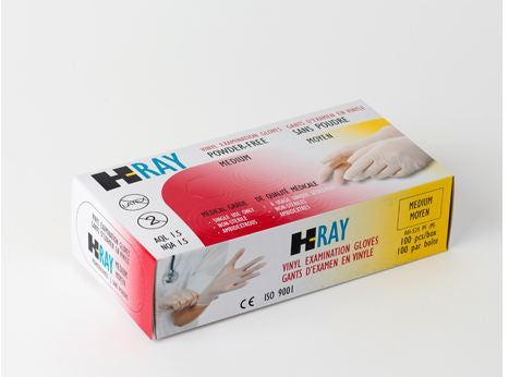 H-RAY DISPOSABLE VINYL GLOVES POWDER FREE – MEDICAL GRADE ALL SIZES