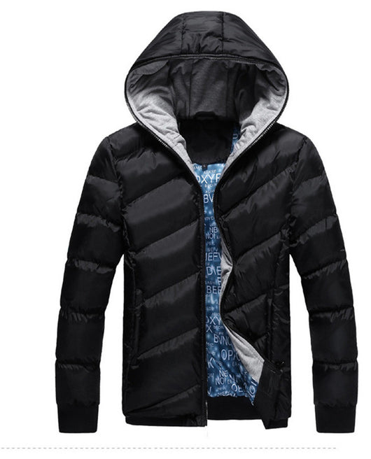 HEE GRAND 2017 Fashion Leisure Men Winter Warm Parka Jackets Brief Solid Slim Fit Windproof Thick Overcoat MWM464
