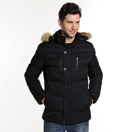 HEE GRAND 2017 Winter Men High Quality Parkas Casual Hooded Comfortable Solid Men Coats L-3XL MWM1856