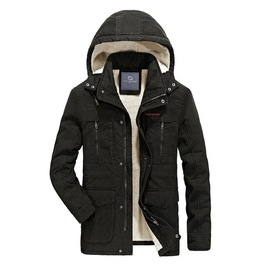 HEE GRAND 2018 Fashion Winter Jackets Solid Coats Classic Thicker Warm Jacket for Men Hat Hooded Parkas MWM1757