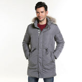HEE GRAND 2018 Winter New Men 's Cotton Thickening Hooded Cotton Jacket With  Fur Collar Long Style 3 Colors L~3XL MWM1813