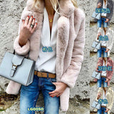 HEE GRAND Faux Fur Coat Women 2018 Winter Plus Size S-3XL Mink Fur Outwear Solid Thick Warm Luxury Oversize Coats WWC158