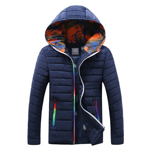 HEE GRAND Men Winter Jacket Fashion Hooded Warm Down Cotton Male Casual Hoodies Clothing Coat MWM1681