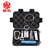 EDC Combination SetMulti-function Pocket Tool Combination Emergency Whistle Hand Saw Pliers Key Knife Warehouse Outdoor