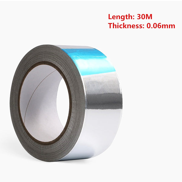 Aluminum Foil Tape BGA High Temperature Tape Sealing Thermal Duct Repairs For PCB Repair  30M*0.06mm