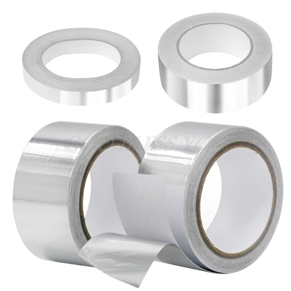 40 Meters Aluminium Foil Adhesive Tape Sealing Duct Tape Heat Resist High Temperature