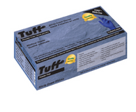 TUFF COBALT BLUE DISPOSABLE NITRILE PF GLOVES, MEDICAL GRADE (1000 gloves) INF15I-700PF-CB