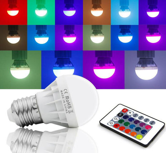 LED RGB Bulb Lamp AC85-265V 220V E27 6W LED Spot Blubs Stage Night Lights Holiday RGB lighting+IR Remote Control LED Bulb RGB