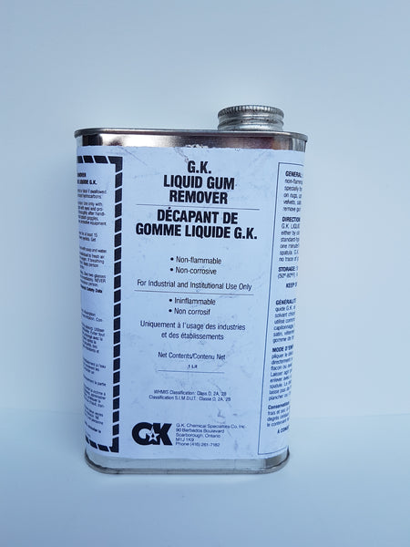 Liquid Gum Remover 1 Liter CURBSIDE PICK UP AVAILABLE