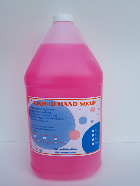 Pink Hand Soap 4x4L CURBSIDE PICK UP AVAILABLE