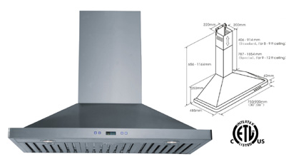Range Hood LOTUS BRAND - LTS-01T-30 Free Delivery